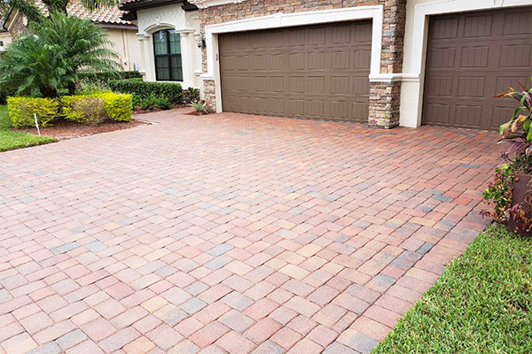 Brick Paver Driveway Cleaned and Sealed