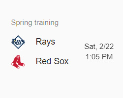 Rays vs Red Sox 2-22