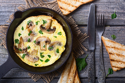 Cheese and Mushroom Omelet