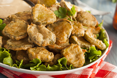 Fried Pickles with Spicy Mayonnaise