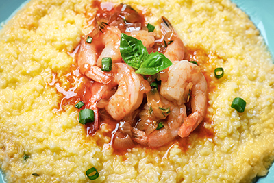 Shrimp and Grits - Try this Cheesy Sausage, Shrimp and Grits Recipe